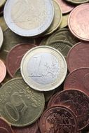 save euro coins currency business cash