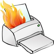 printer burning