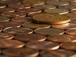 copper penny coins