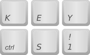 key buttons of computer keyboard