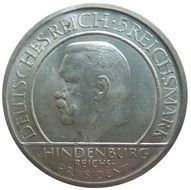 coin with portrait of Paul von Hindenburg