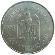 reichsmark coin money commemorative