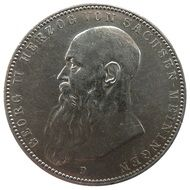 mark coin with portrait of Georg II