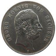 mark coin with portrait of king George saxony