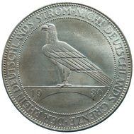 reichsmark coin with the image of bird