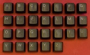 brown buttons of the keyboard