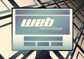 computer and web disign site on it\'s screen