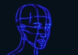 head wireframe graphics model 3d