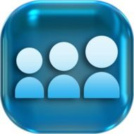 Clipart of blue icons