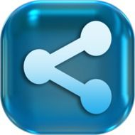Clipart of blue share icon