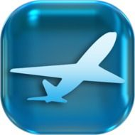 Clipart of blue aircraft icon