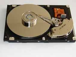 Photo of hard disk drive