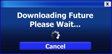 downloading future please wait text drawing