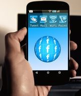 Facebook ball on a smartphone screen