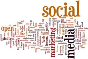 word cloud about social media