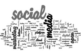 word cloud about media marketing