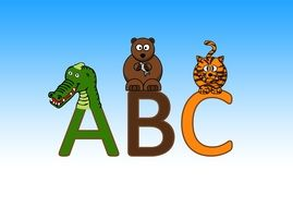 letters abc drawing