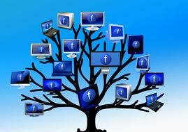 Clipart of the Facebook tree