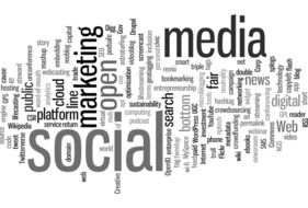 tagcloud about marketing in social media