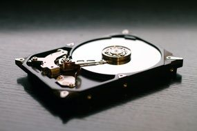 isolated hard drive disk