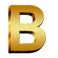 golden B letter abc education