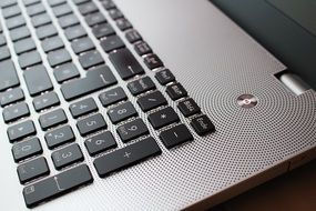 keyboard of the laptop