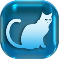 Clipart of cat icon