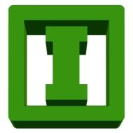"green letter ""I"" as pictogram"