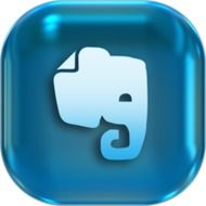 drawing of an elephant on a blue icon