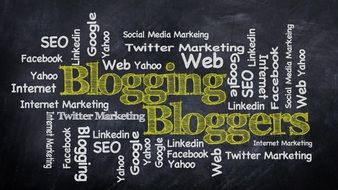 word cloud about blogging