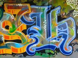 colorful decorative graffiti on the wall