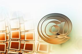 e-mail symbol at abstract background
