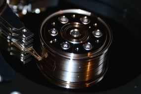 Macro Photo of hard drive