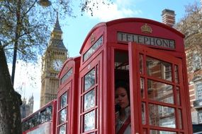 Famous red box with phone in the London