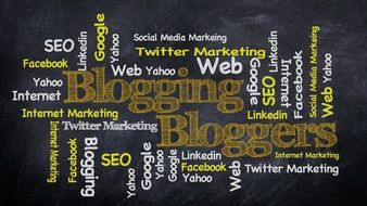word cloud about internet blogging