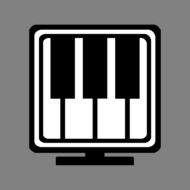 computer piano drawing
