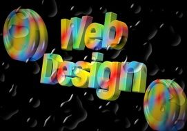 colorful phrase web design