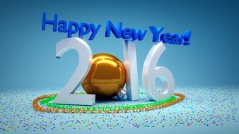 Clipart of new year's day 2016
