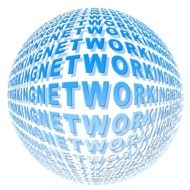 "The words ""networking"" on the ball"