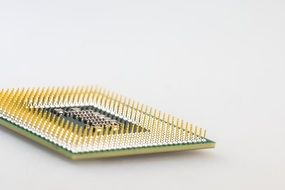 Microprocessor on a white surface