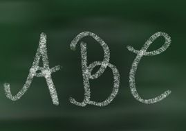 "letters ""ABC"" on the board"