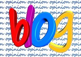 big colorful word blog