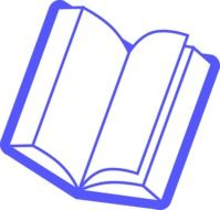 blue open book as a graphic image