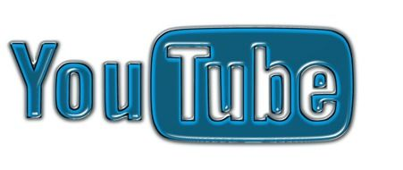 blue and white logo of YouTube