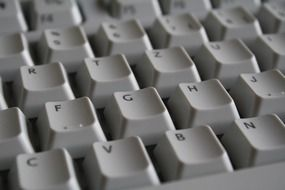 White computer keyboard