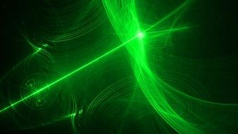 Clipart of abstract green computer graphics