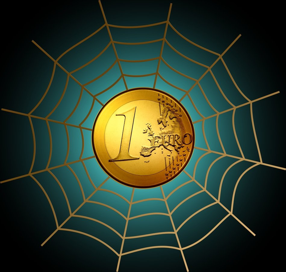 euro currency money cobweb network clipart