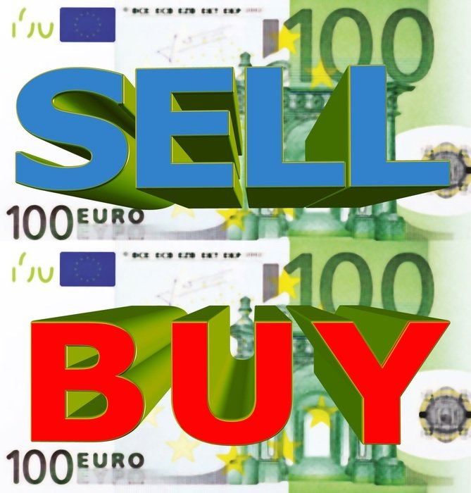 Clipart of sell and buy symbols