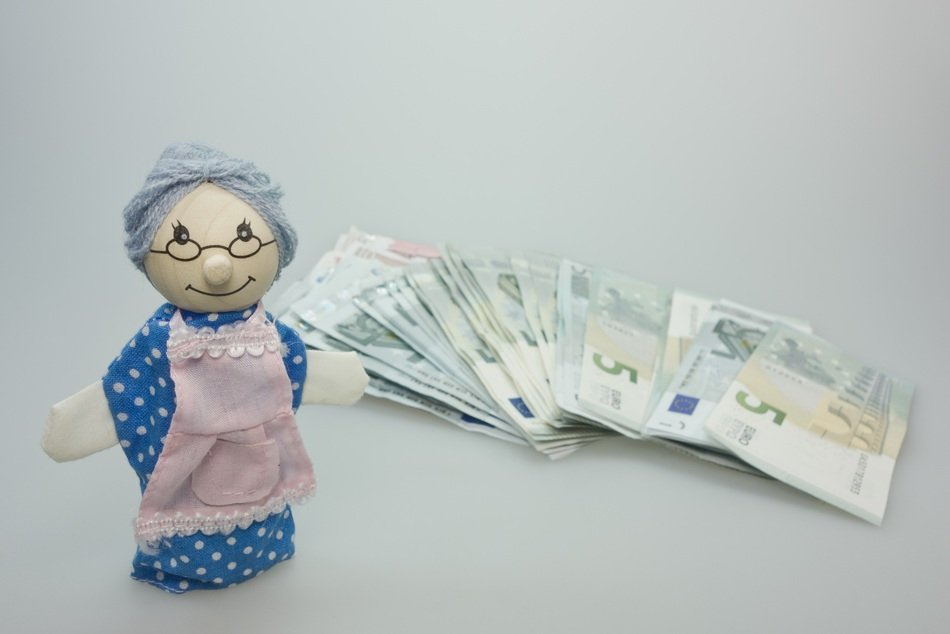 doll grandma children toys money