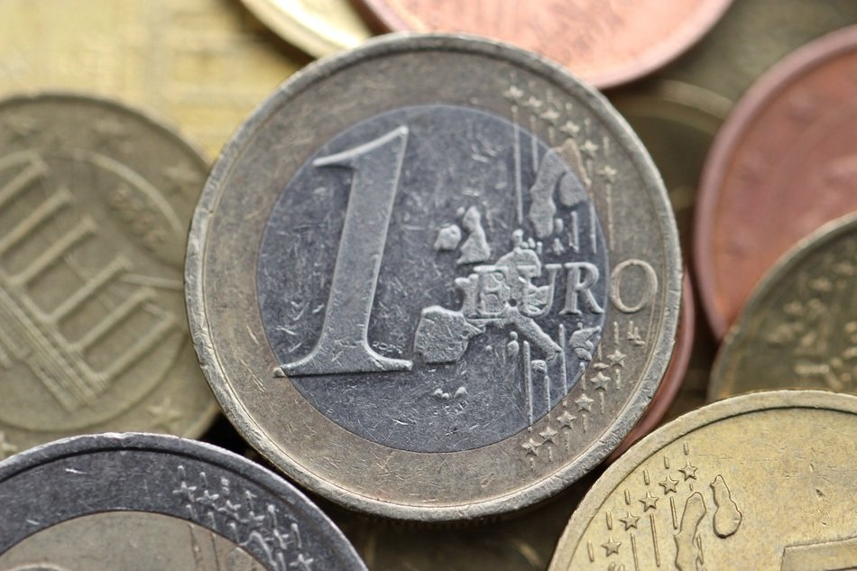 one euro coin money currency business cash